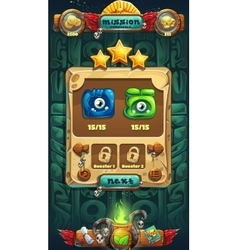 Jungle shamans GUI mission collect vector image