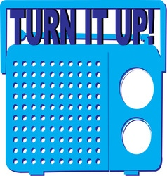 Turn it up vector
