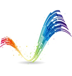 Check mark rainbow vector