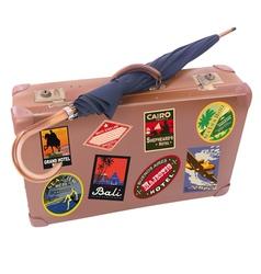 Suitcase Umbrella vector image