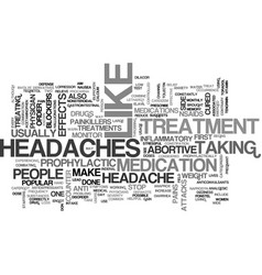 A wide array of effective headache treatments vector