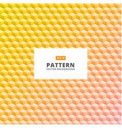 Abstract yellow 3d square geometrical pattern for vector