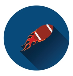 American football fire ball icon vector image