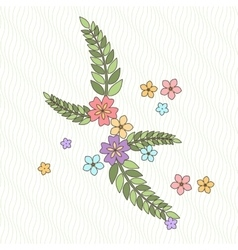 Background with flowers and branches in the vector