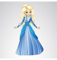 Beautiful blonde snow queen vector