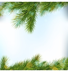 Christmas tree borders isolated on light vector