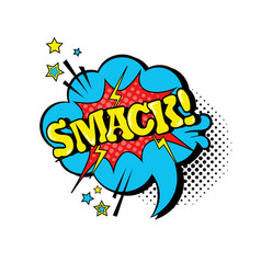 comic speech chat bubble pop art style smack vector image vector image