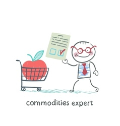 Commodities expert merchandise with the document vector