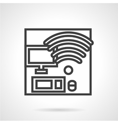 Coworking workplace icon vector
