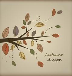Cute autumn design vector