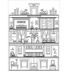 Egyptian interior vector