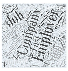 Job interview faqs dlvy nicheblowercom word cloud vector