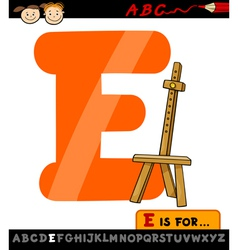 letter e with easel cartoon vector image vector image