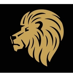 Lion head icon vector image vector image