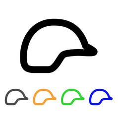 motorbike helmet stroke icon vector image