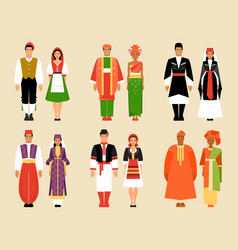 national clothes vector image vector image