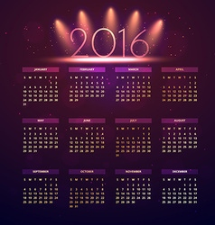 new year calender vector image vector image
