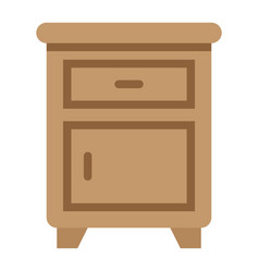 Nightstand flat icon furniture and interior vector