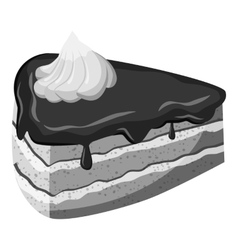 Piece of cake icon gray monochrome style vector