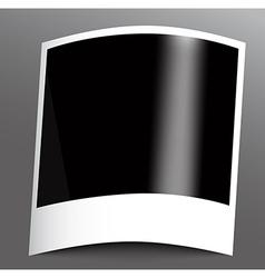 Polaroid photo frame vector