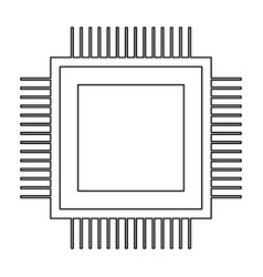 Processor the black color icon vector