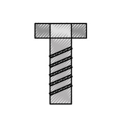 screw tool accessory adjustable construction icon vector image vector image