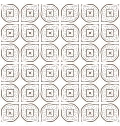 Seamless hand drawn beige zenart pattern vector image