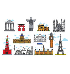 spectacular famous architectural art creations vector image