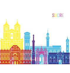 sucre skyline pop vector image vector image
