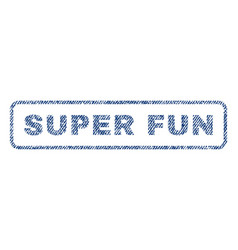 super fun textile stamp vector image vector image