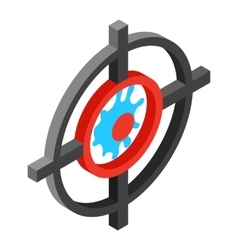 Target with paintball ball isometric 3d icon vector