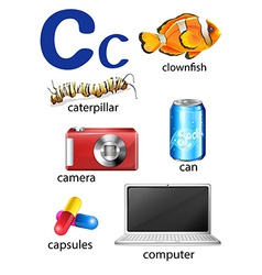 Things that start with the letter C vector image