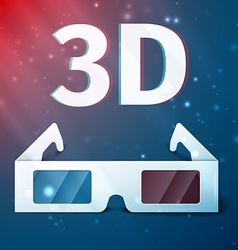 Three D glasses vector image