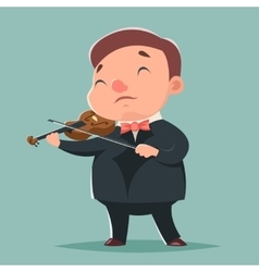 Violin music artist concept character icon cartoon vector