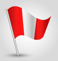 Waving simple triangle peruvian flag vector