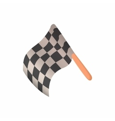 Racing flag icon cartoon style vector image