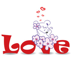 Love mouse vector