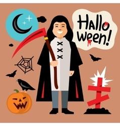 Halloween death cartoon vector