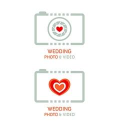 Wedding photo agency vector image