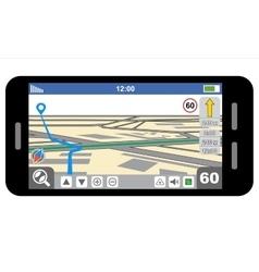 Smartphone with GPS navigator vector image
