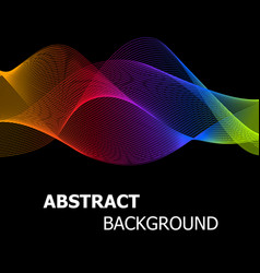 Abstract colourful lines wave background vector