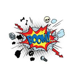 Boom comic pop art bubble vector