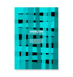 Design backdrop flyer turquoise intersecting vector