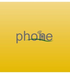 phone spelling vector image