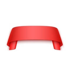 3d red curved paper banner isolated on vector