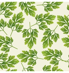 Seamless parsley pattern vector