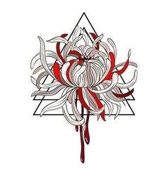 Bloody chrysanthemum vector