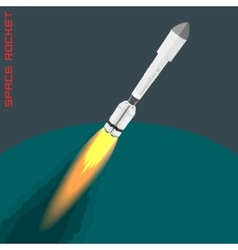 Proton space rocket vector image