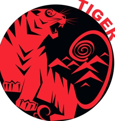 Chinese horoscope tiger vector