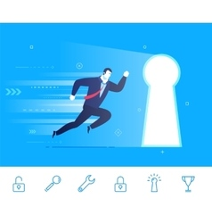 Success businessman go to vector